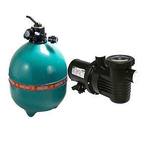 Filtro p/ piscina Dancor DFR-30 com bomba de 1,5 CV monofásica 110V/220V