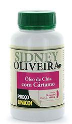 Óleo de chia + cártamo - sidney oliveira 30 cápsulas