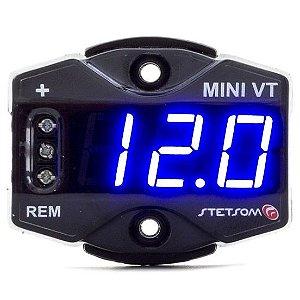 Mini Voltimetro Stetsom VT Azul Digital Automotivo