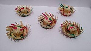 100 mini chapéu de palha colorido festa junina 2e9ede30593