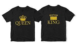 Kit Camisetas Queen e King - Tamanhos M/M