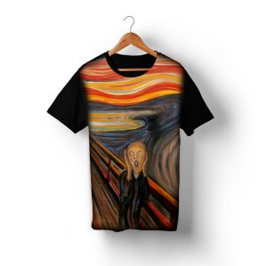 Camiseta O Grito, de Edvard Munch em Sublimação