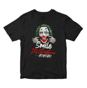 Camiseta Coringa Its Christmas Natal  da DC Comics - Cinema