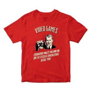 Camiseta Videogames Ensinando Inglês desde 1980 - Games