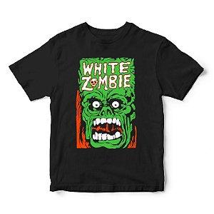 Camiseta White Zombie com Mascote - Rob Zombie - Música