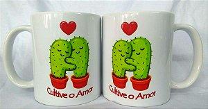 """Caneca porcelana """" Cultive o Amor"""""""