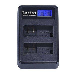 Carregador de Bateria Duplo Tectra para Bateria Canon LP-E8