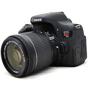 Câmera Canon EOS Rebel T6i com Lente 18-55mm IS STM Seminova com Caixa