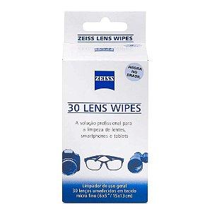 Lenços Umedecidos Lens Wipes Zeiss 30 unidades