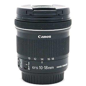Lente Canon EF-S 10-18mm f/4.5-5.6 IS STM Seminova