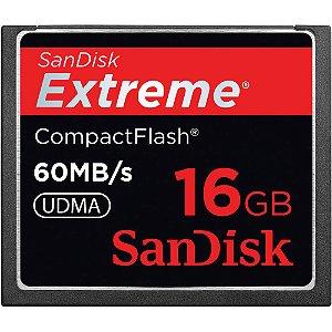 Cartão de Memória SanDisk Compact Flash Extreme 16GB 60 MB/s Usado