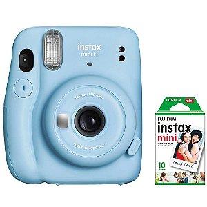 Câmera Instantânea Fujifilm Instax Mini 11 Azul + Filme 10 Chapas
