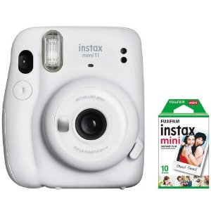 Câmera Instantânea Fujifilm Instax Mini 11 Branca + Filme 10 Chapas
