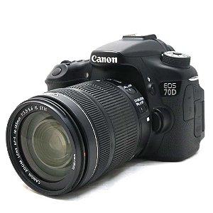 Câmera Canon EOS 70D com Lente 18-135mm IS STM Seminova