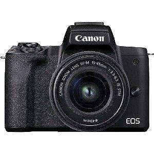 Câmera Canon EOS M50 Mark II Kit 15-45mm f/3.5-6.3 IS STM
