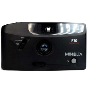 Câmera Analógica Minolta F10 Focus Free Tipo Saboneteira Usada