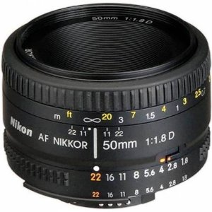 Lente Nikon AF 50mm f/1.8D Objetiva
