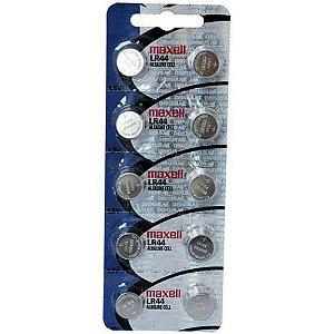 Bateria LR44 1.5V Maxell com 10 Unidades