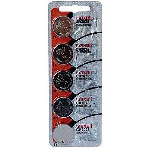 Bateria CR2025 3v Maxell Com 5 Unidades