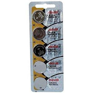 Bateria CR2016 3v Maxell Com 5 Unidades