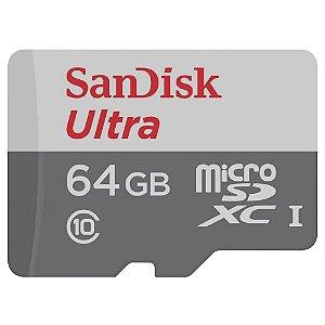 Cartão de Memória Sandisk Micro SDXC Ultra 64GB 80 MB/s