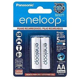 Pilha AA Recarregável Panasonic Eneloop 2000mah 2 Unidades
