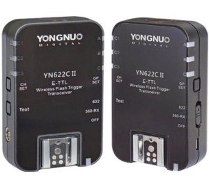Kit Rádio Flash para Canon Wireless Yongnuo YN-622C II E-TTL