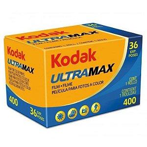 Filme Kodak Ultramax 400 ISO 400 35mm 36 Poses Colorido