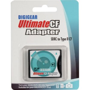 Adaptador de Cartão de Memória SD Para CF Tipo II Digigear