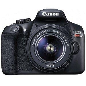Câmera Canon EOS Rebel T6 Kit Premium Lentes 18-55 e 55-250mm Seminova