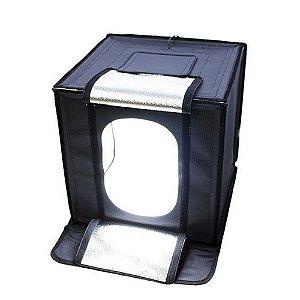 Mini Estúdio Fotográfico Greika LED440 com Iluminação Led 40x40cm