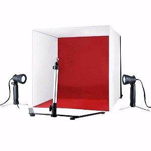Mini Estúdio Fotográfico Easy PB-06 com Iluminação Led 60x60cm