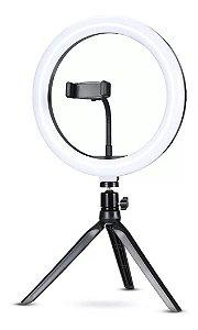 Ring Light 26cm com Mini Tripé