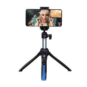 Mini Tripé Benro BK15 com Pau de Selfie e Disparador