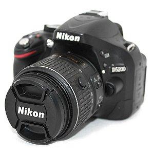 Câmera Nikon D5200 com Lente AF-S 18-55mm VR II Seminova
