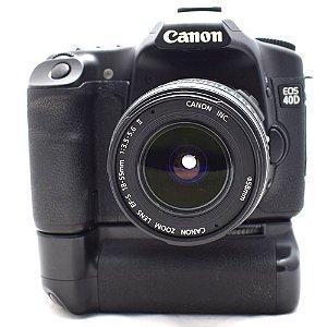 Câmera Canon EOS 40D com Lente 18-55mm II e Grip Usada