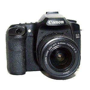 Câmera Canon EOS 50D com Lente EF-S 18-55mm IS ll Usada