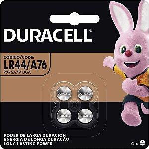 Bateria Duracell LR44 1.5v com 4 Unidades
