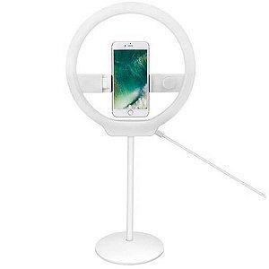 Iluminador Ring Light Yongnuo YN128 com Suporte para Smartphone