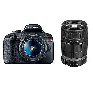 Câmera Canon EOS Rebel T7 Kit Premium com Lentes 18-55mm e 55-250mm