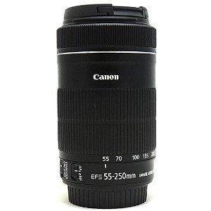 Lente Canon EF-S 55-250mm f/4-5.6 IS STM Seminova