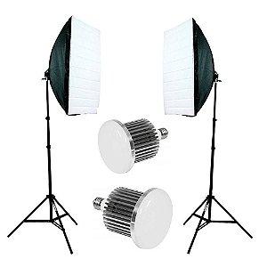 Kit de Iluminação Greika Ágata II Led B Retangular 40x60cm com Luz Led 50w Bivolt Sem Bolsa