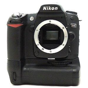 Câmera Nikon D80 Corpo com Grip MB-D80 Original Usada