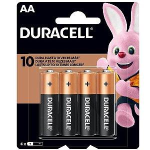Pilha AA Duracell com 4 Unidades