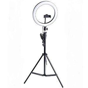 Iluminador Ring Light Lintian LT-2601 26cm com Suporte para Smartphone e Tripé 2 metros