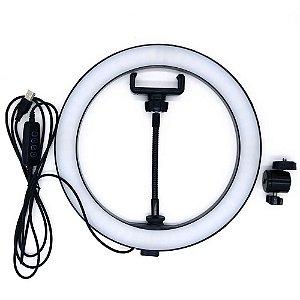 Iluminador Ring Light Lintian LT-2601 26cm com Suporte para Smartphone