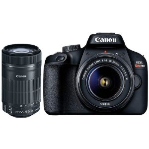 Câmera Canon EOS Rebel T100 Kit Premium com Lentes 18-55mm e 55-250mm