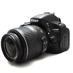 Câmera Nikon D5100 com Lente 18-55mm VR Seminova