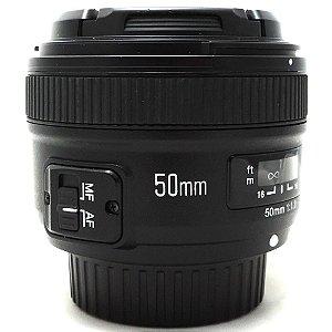 Lente Yongnuo YN 50mm f/1.8 AF para Nikon F Seminova