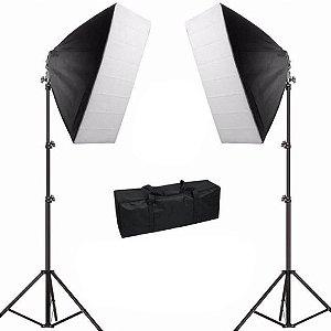 Kit de Iluminação Newborn 3 Softbox Retangular 50x70cm sem Lâmpada
